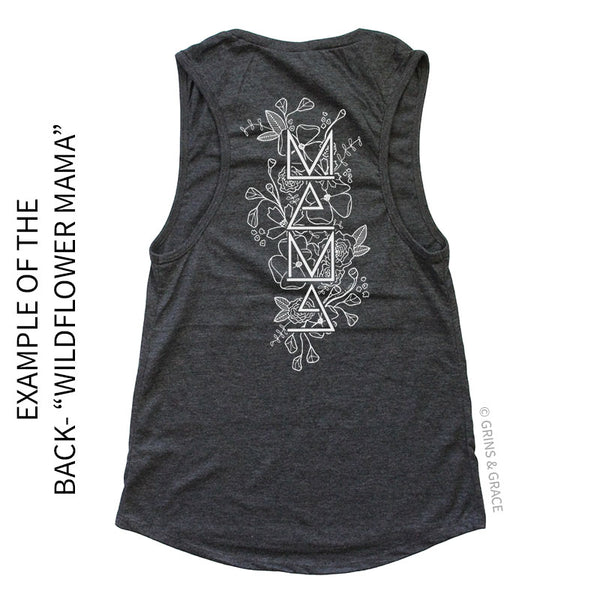 PRE-ORDER | HEATHER CHARCOAL WOMEN'S MUSCLE TANK (S-2XL)