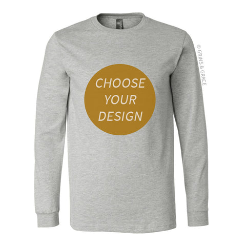 PRE-ORDER | ATHLETIC HEATHER CREW NECK LONG SLEEVE SHIRT