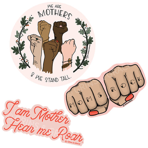 """MAMA EMPOWERMENT TRIO"" GLOSSY STICKER SET"