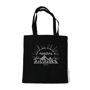 """BLESSED ARE MOTHERS"" MOM MARKET TOTE IN BLACK - Grins & Grace"
