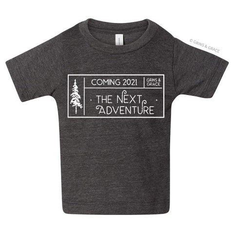 """COMING 2021: THE NEXT ADVENTURE"" BABY T-SHIRT"
