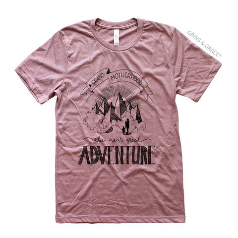 """GRAND-MOTHERHOOD: THE NEXT GREAT ADVENTURE"" GRANDMA T-SHIRT"