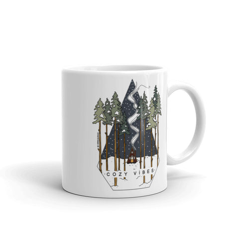 """COZY VIBES"" CERAMIC COFFEE MUG"