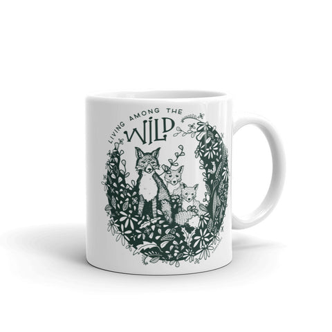 """LIVING AMONG THE WILD"" CERAMIC COFFEE MUG"