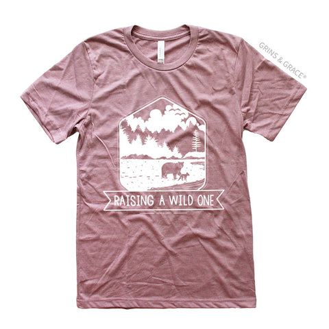 """RAISING A WILD ONE"" MAMA BEAR T-SHIRT"