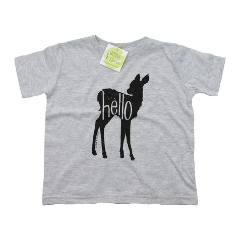 """Hello Deer"" Unisex Toddler T-Shirt - Grins & Grace"