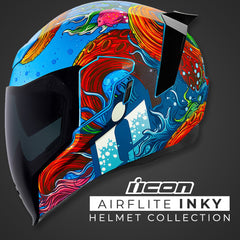 Icon Spring 2019 | Airflite Inky Motorcycle Street Helmet Collection