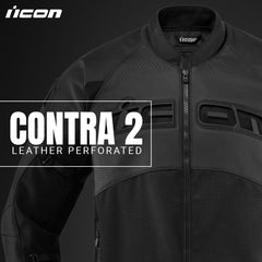Icon Street Racing Contra 2 Leather Perforated Motorcycle Gear