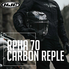 HJC Motorcycle Street Helmet 2020 | RPHA 70 Series Carbon Reple