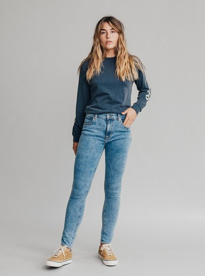 Quiksilver Womens - High Rise Skinny Fit Jeans