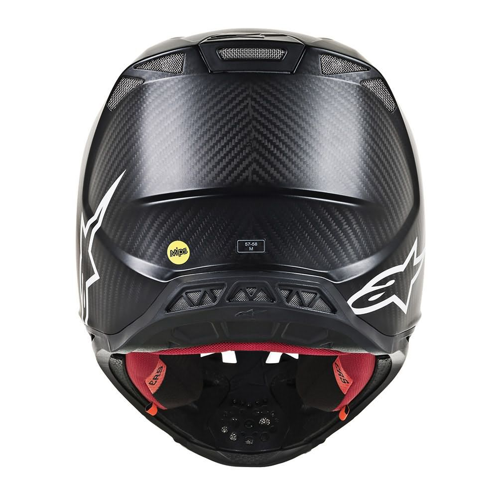 Black Matte Carbon Helmet-Back View