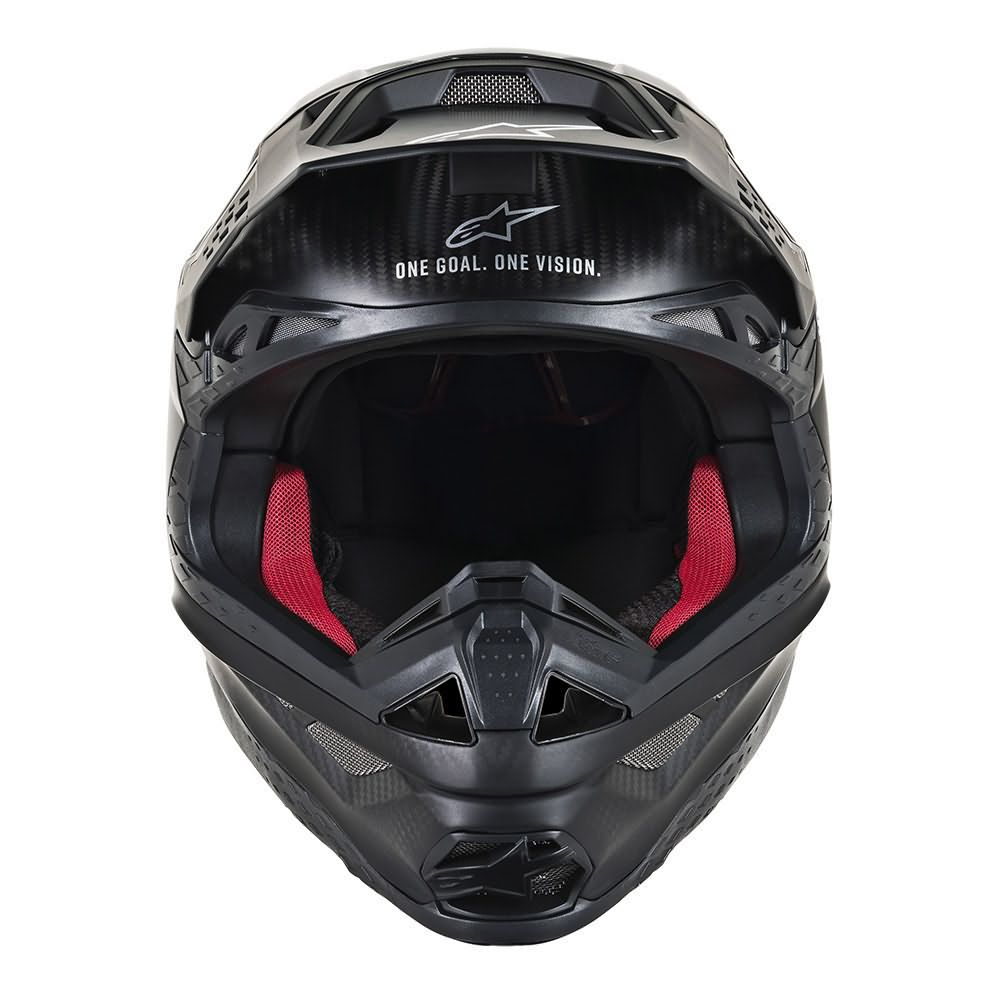Black Matte Carbon Helmet-Front View