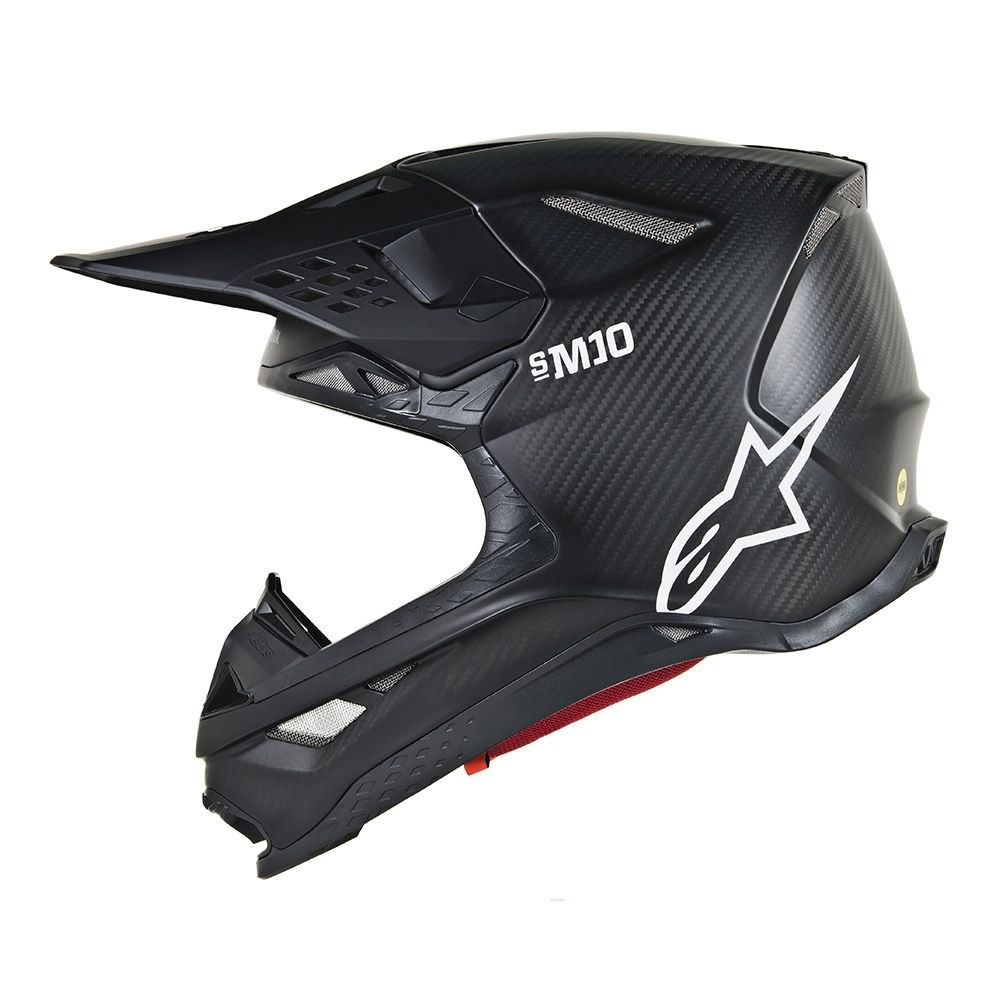 Black Matte Carbon Helmet-Side Left View