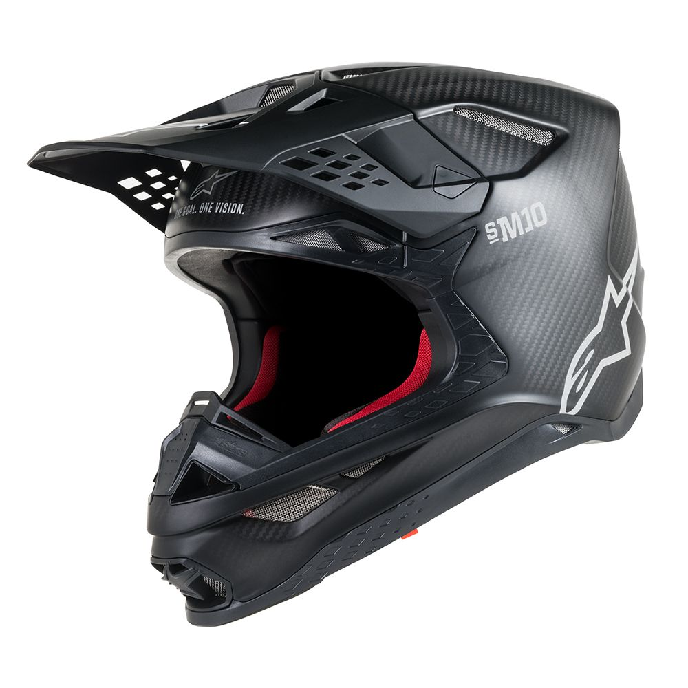 Black Matte Carbon Helmet-Profile View