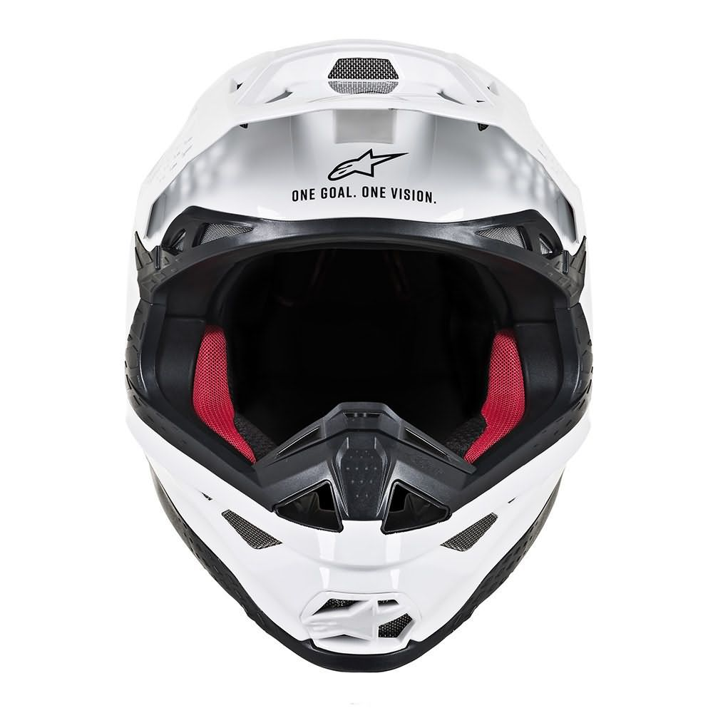 White Glossy Helmet-Front View