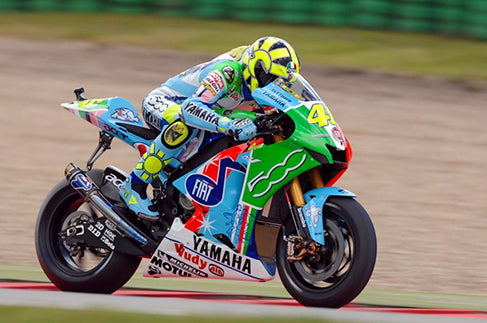 Rossi at the 2007 Dutch TT with a special bike livery