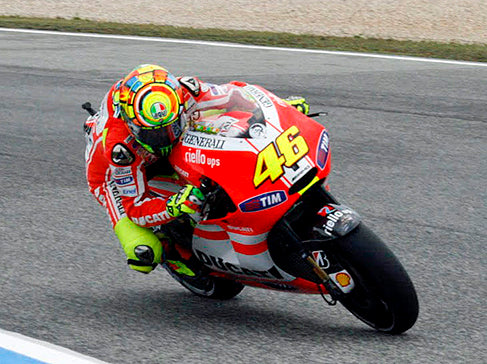 Rossi at the 2011 Portuguese Grand Prix