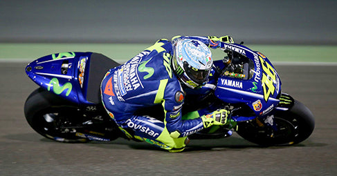 Rossi at the 2017 Qatar tests at the Losail International Circuit