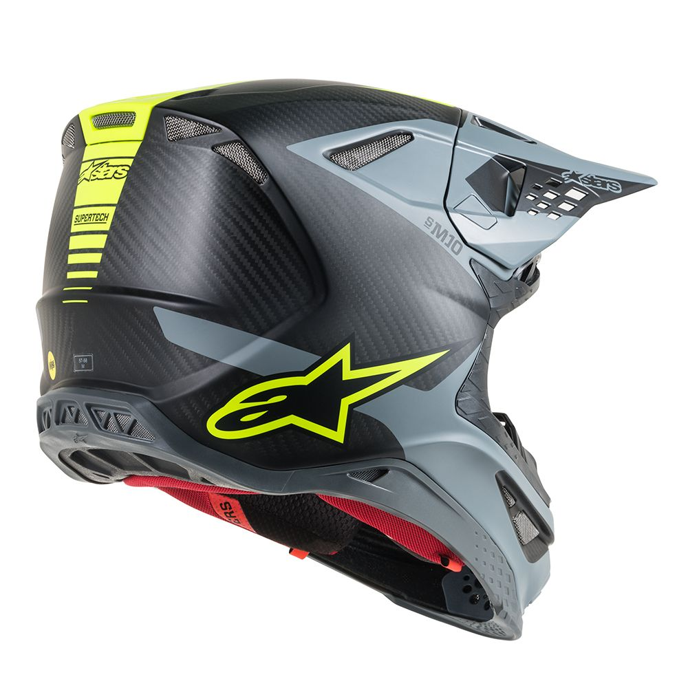 Black Gray Yellow Fluo Helmet-Side View