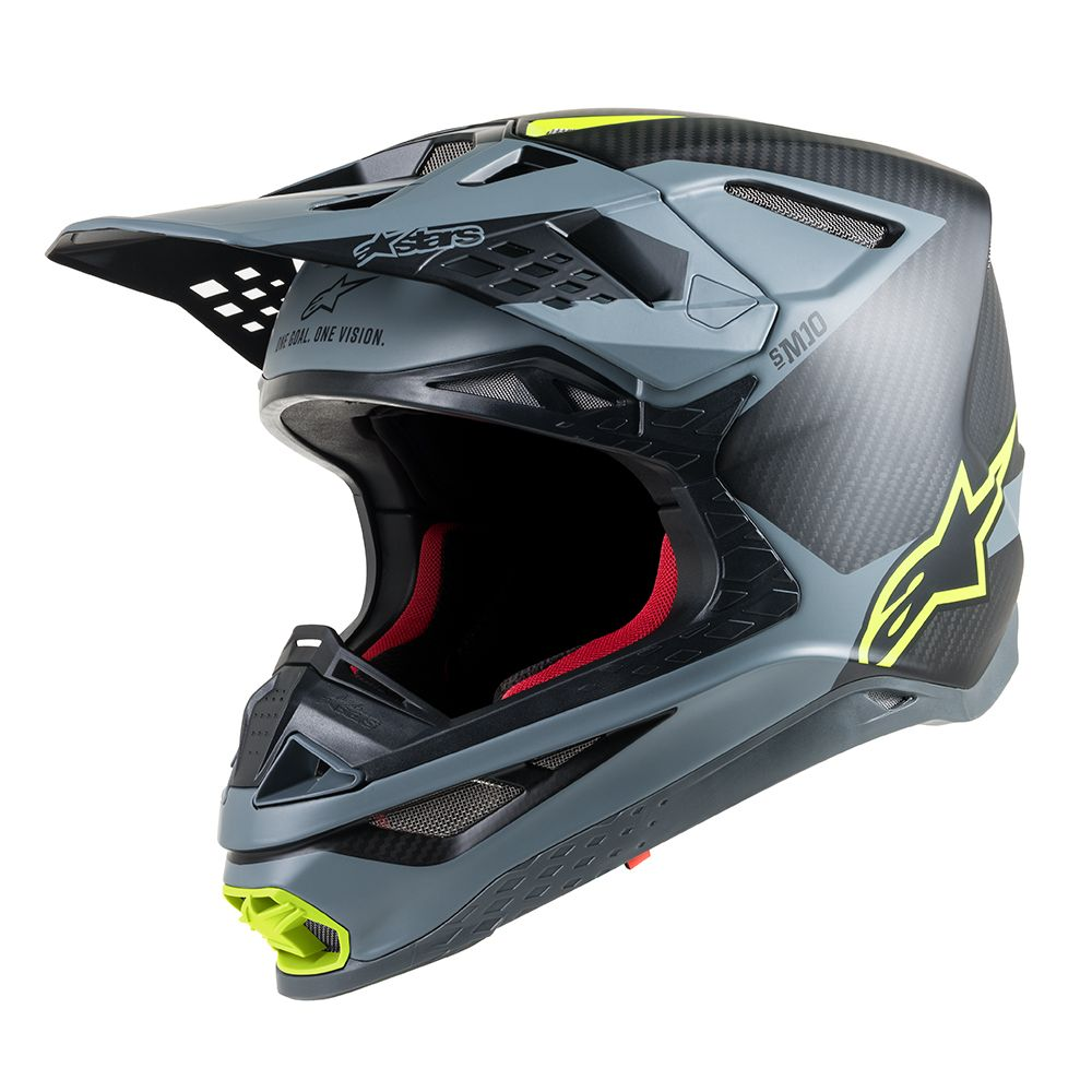 Black Gray Yellow Fluo Helmet-Front View