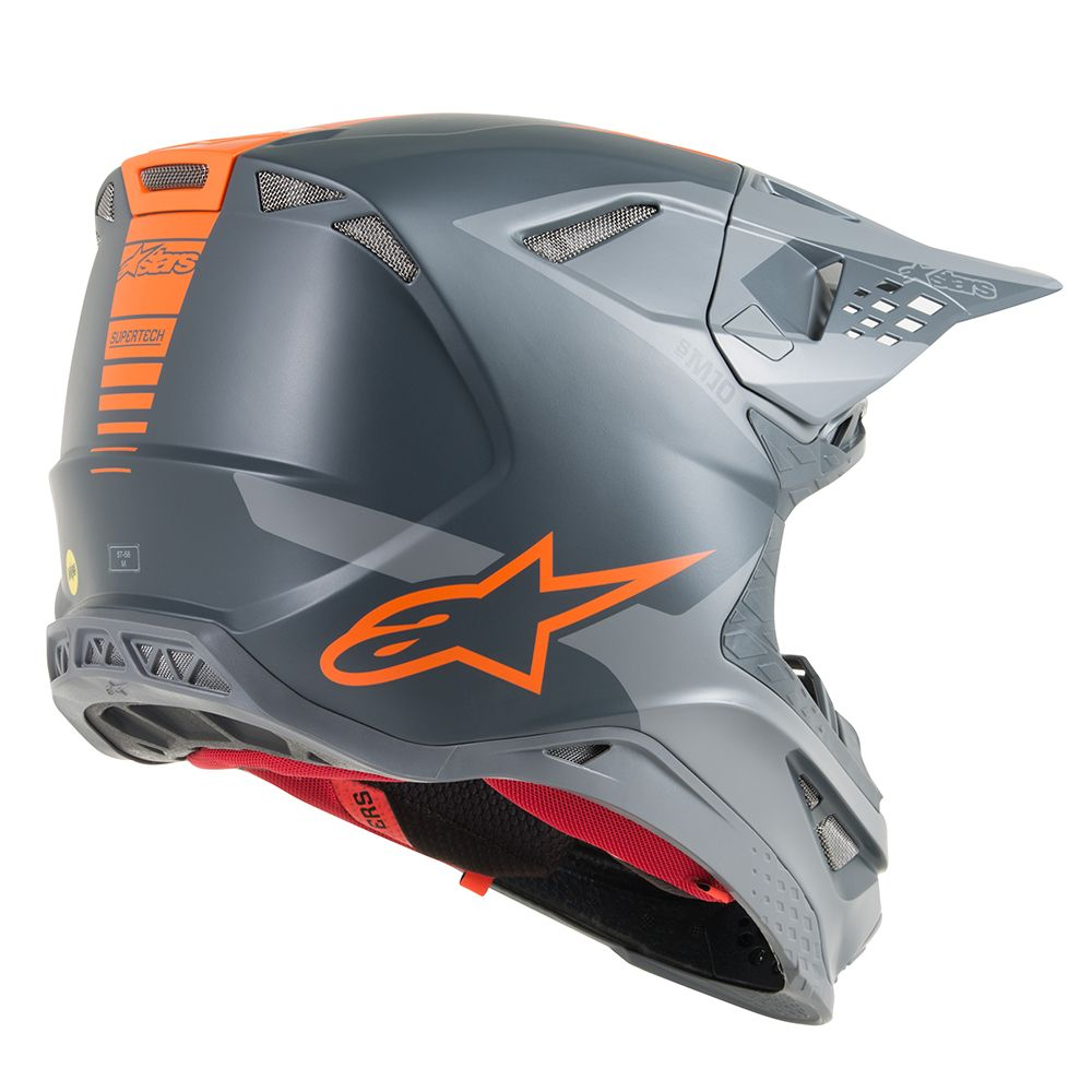 Anthracite Gray Orange Fluo Helmet-Side View