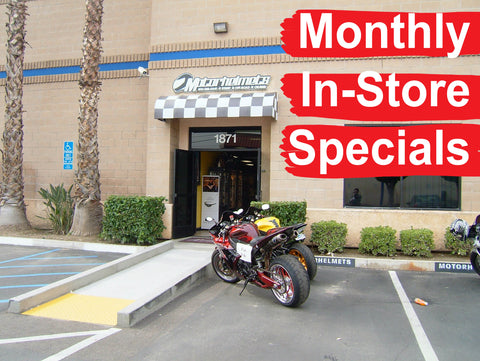 Motorhelmets Monthly Specials In-Store Offers