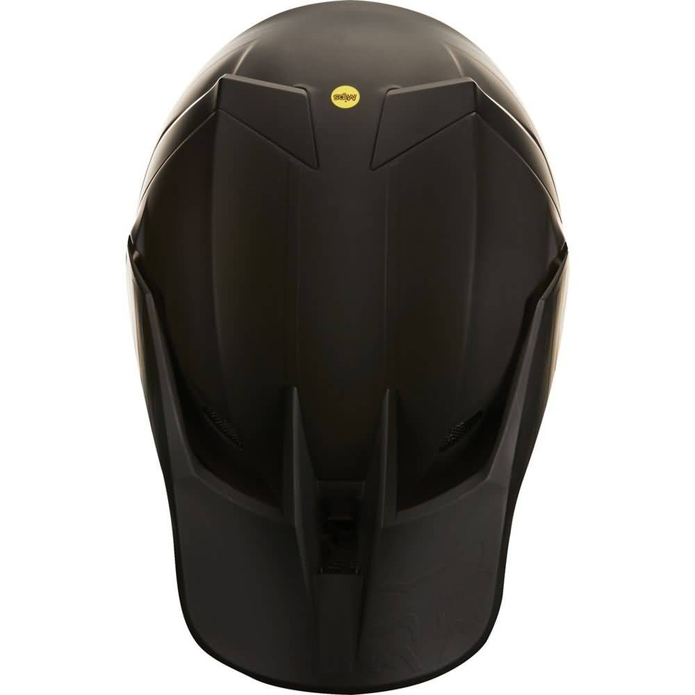 Fox Racing V3 Matte Black Helmet Top View