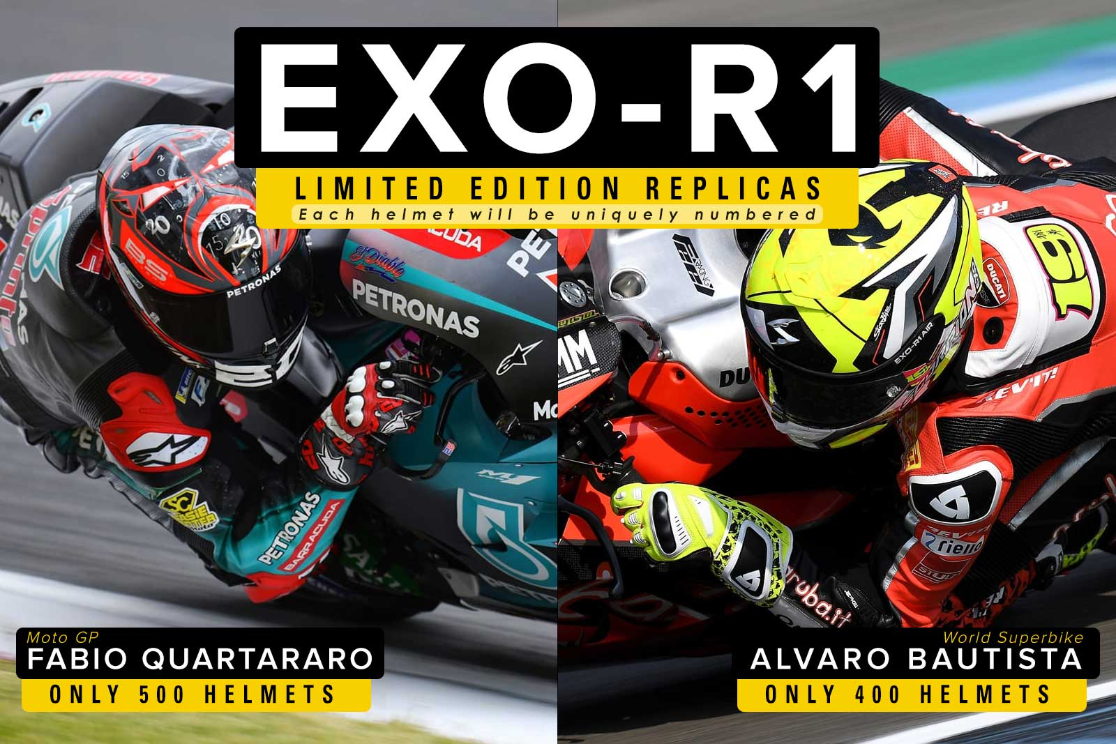 Scorpion 2019 Featuring EXO-R1 AIR Street Racing Helmets Collection