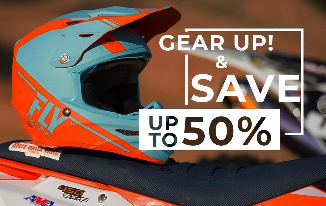 April Gear Up and Save up to 50%