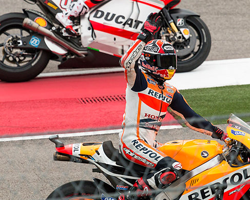Márquez after winning the 2014 Grand Prix of the Americas