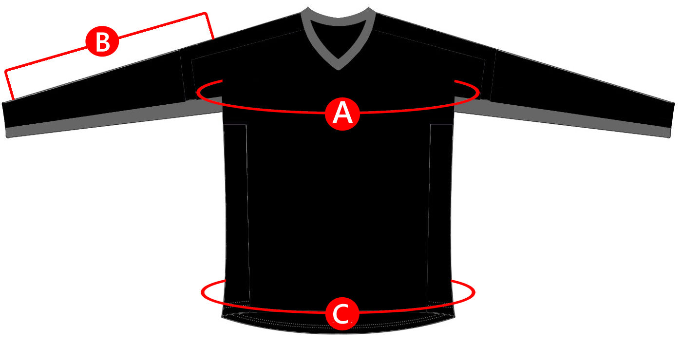 Fly Racing Jersey Size Charts