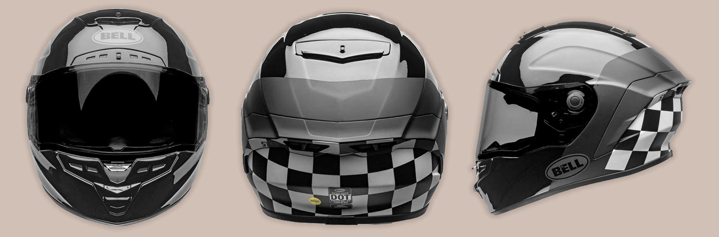 Bell Moto 2020 | LUX CHECKERS MATTE-GLOSS BLACK-WHITE