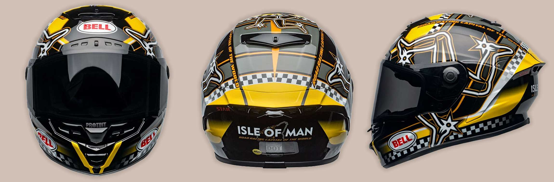 Bell Moto 2020 | ISLE OF MAN GLOSS BLACK-YELLOW