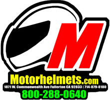 Motorhelmets Die Cut Windshield Sticker