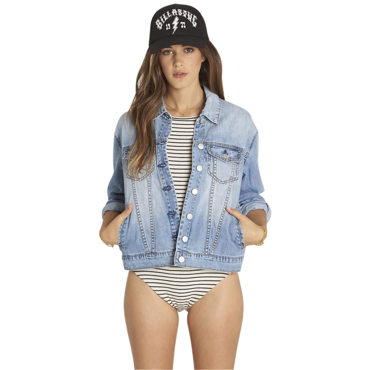 Billabong With The Band Women's Denim Jackets-J715LWIT