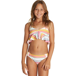Billabong Sunny Song Flutter Youth Girls Two Piece Swimwear (BRAND NEW)