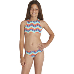 Billabong Ziggyland High Neck Youth Girls Two Piece Swimwear