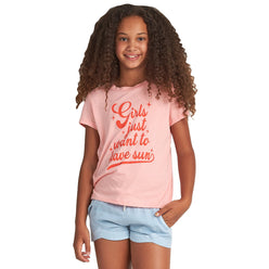 Billabong Girls Want Sun Youth Girls Short-Sleeve Shirts (BRAND NEW)