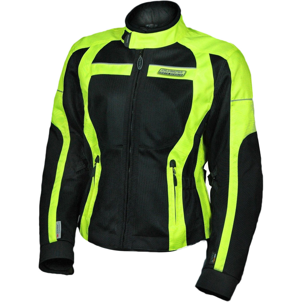 Olympia Switchback Women's Street Jackets - Black Neon / Yellow