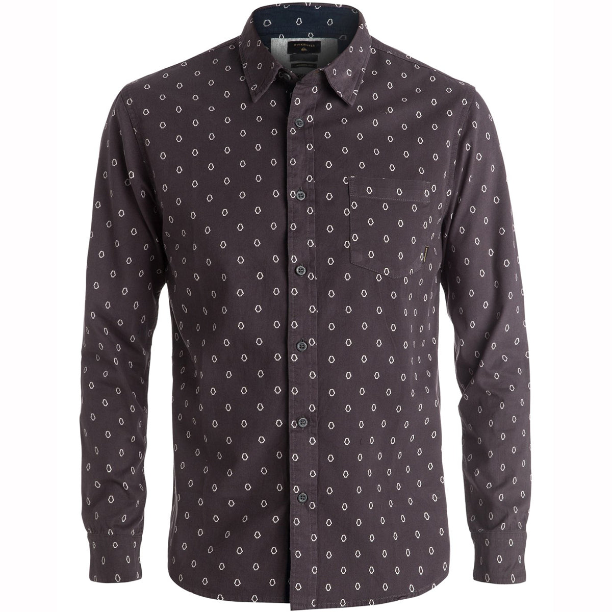Quiksilver Everyday Mini Motif Men's Button Up Long-Sleeve Shirts-EQYWT03413