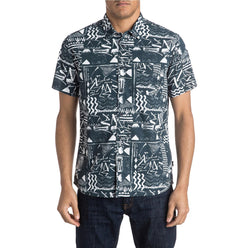 Quiksilver Labyrinth Men's Button Up Short-Sleeve Shirts (USED LIKE NEW / LAST CALL SALE)