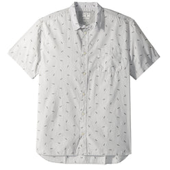 Quiksilver Boredsnap Mini Motif Men's Button Up Short-Sleeve Shirts (BRAND NEW)