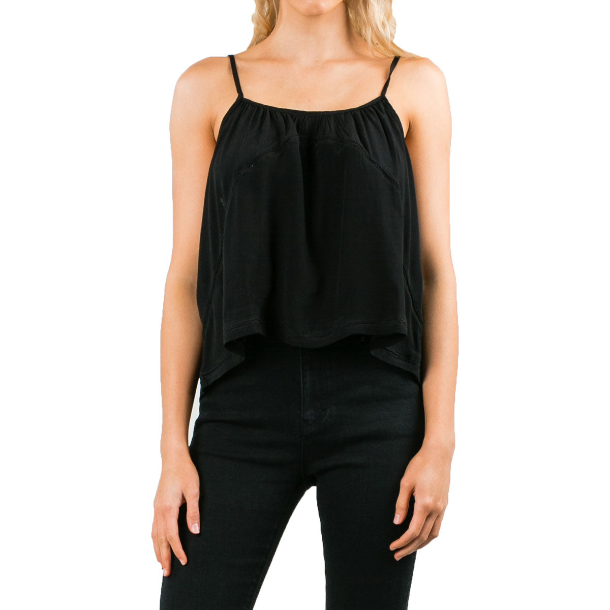 Rusty Women's Rider Cami Top Shirts-WSL0528-BLK