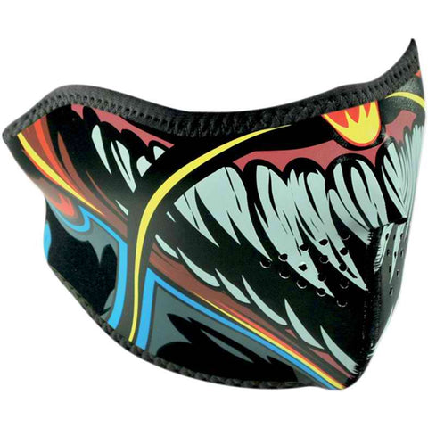 Zan Headgear Lethal Threat Devil Half Adult Face Mask Brand New-WNFMLT01H