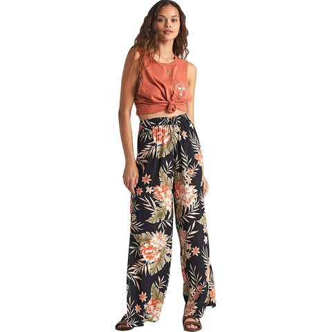 Billabong Falling Stars Women's Beach Pants - Black Floral