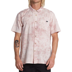 Billabong Sundays Tie Dye Men's Button Up Short-Sleeve Shirts (USED LIKE NEW / LAST CALL SALE)