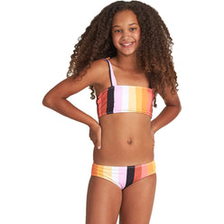 Billabong Sunset Glow Strappy Youth Girls Two Piece Swimwear (BRAND NEW)