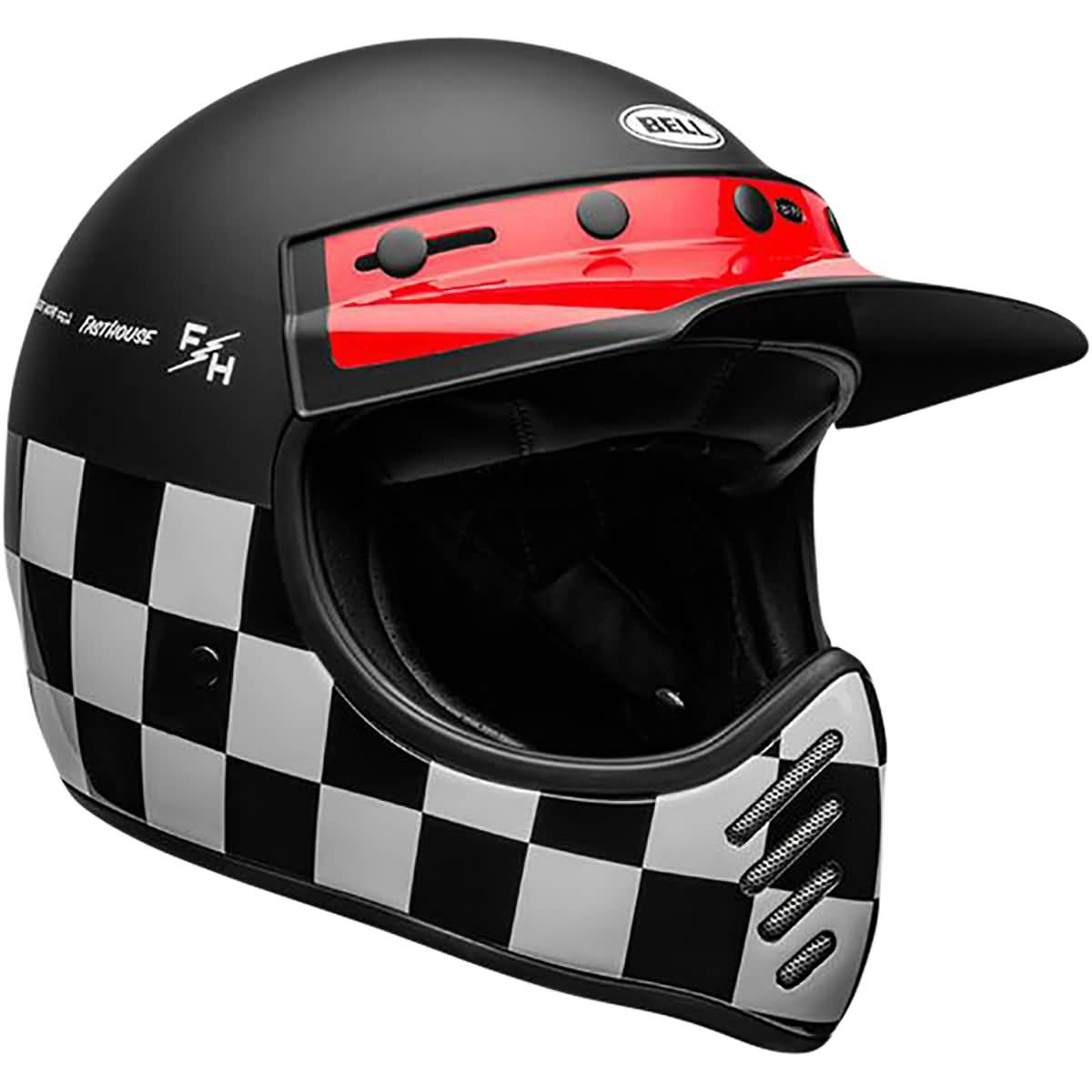 Bell Moto-3 Fasthouse Checkers DLX MIPS Adult Off-Road Helmets-7109939