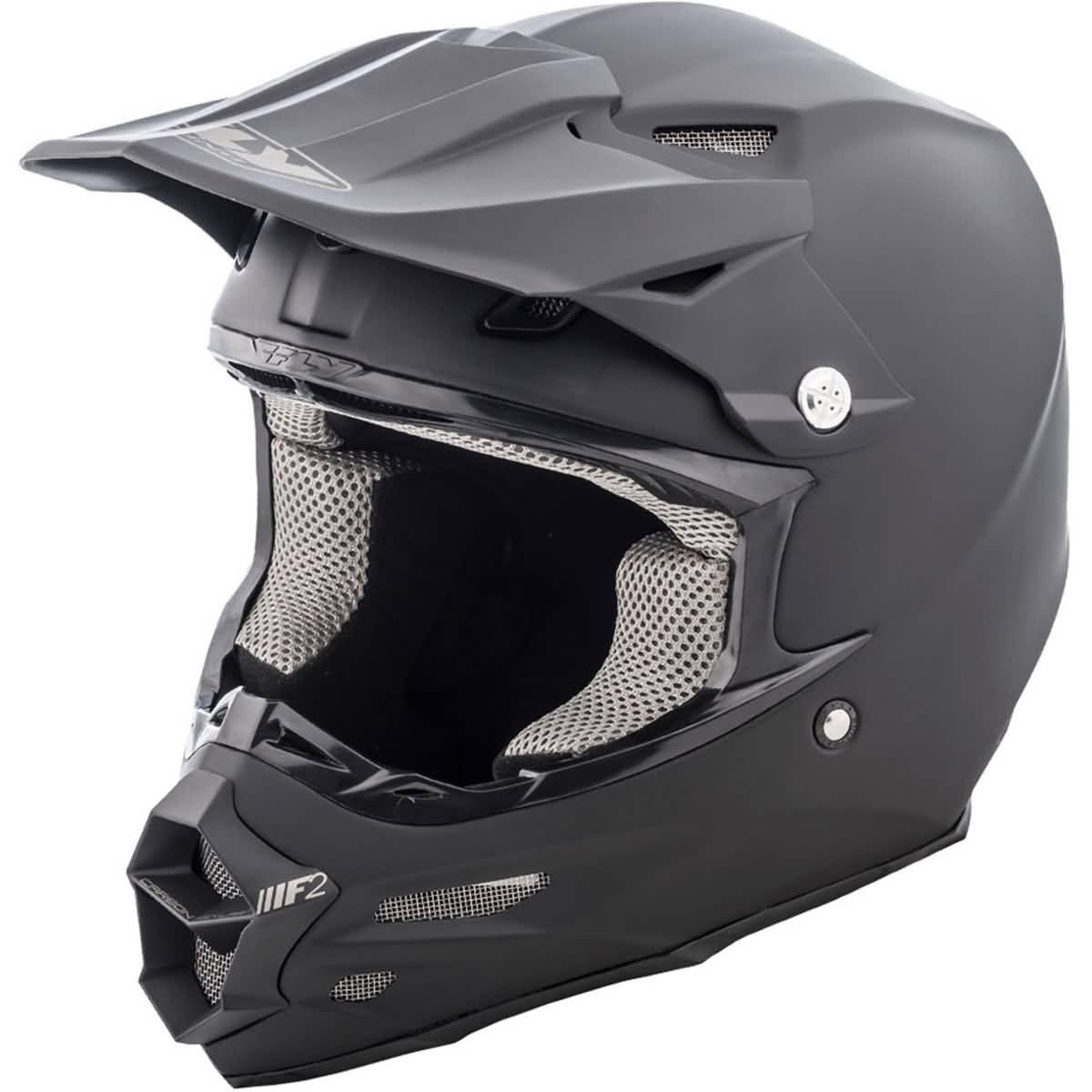 Fly Racing F2 Carbon Solid Adult Snow Helmets-73-4008