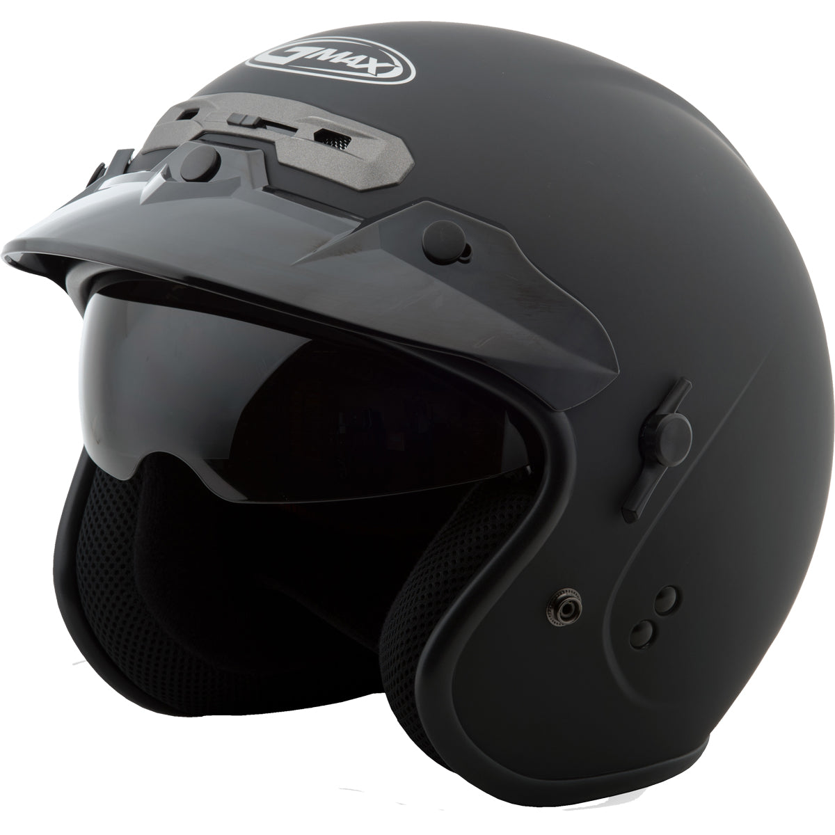 GMAX GM32 Solid Adult Cruiser Helmets - Flat Black